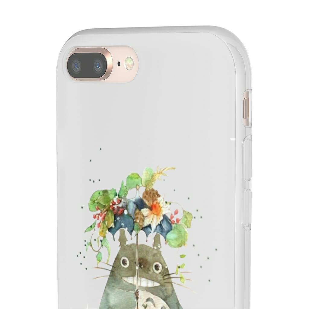 Totoro with Flower Umbrella iPhone Cases