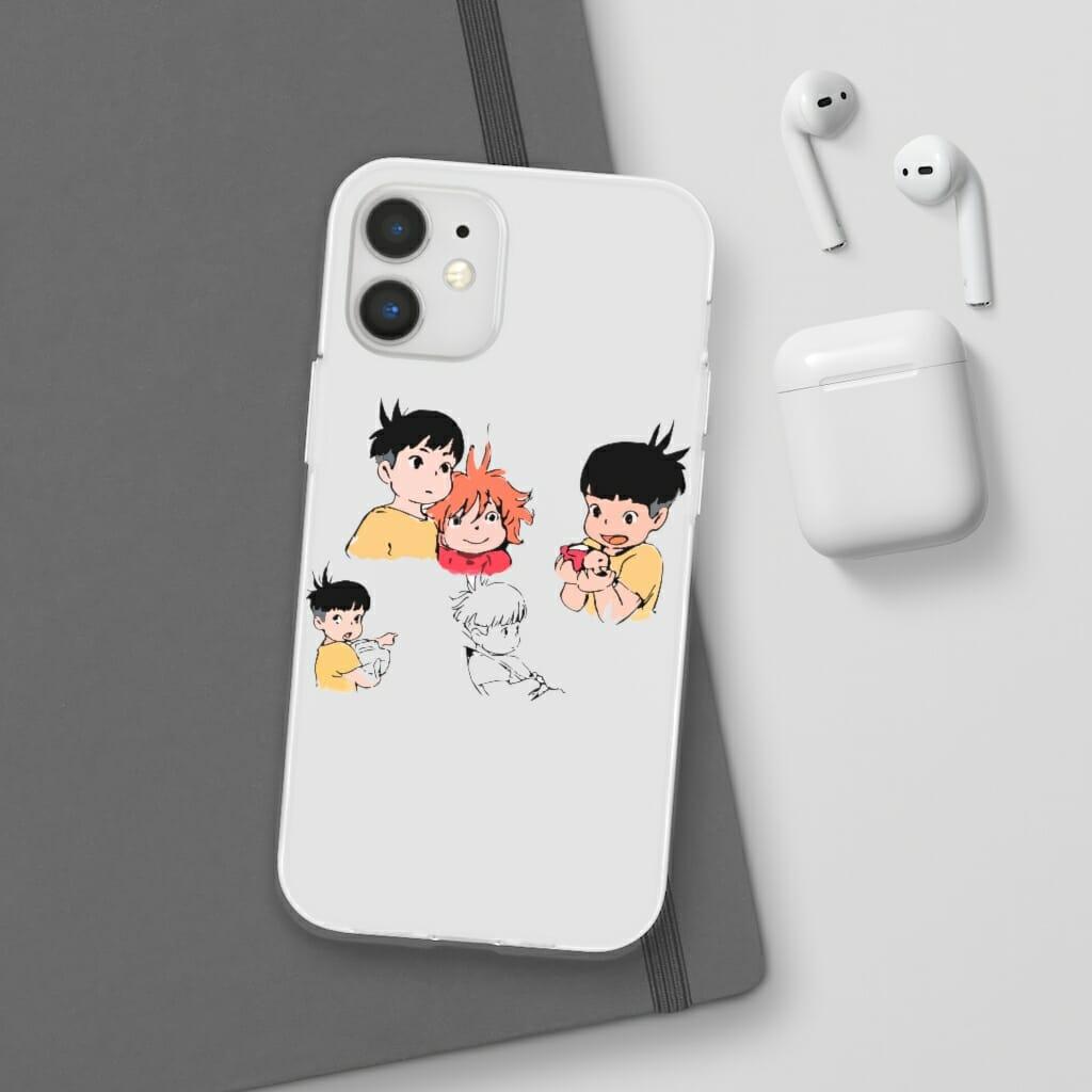 Ponyo and Sosuke Sketch iPhone Cases