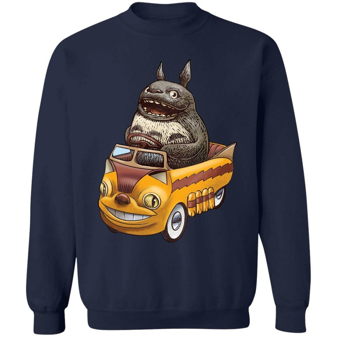 Totoro driving Catbus Sweatshirt
