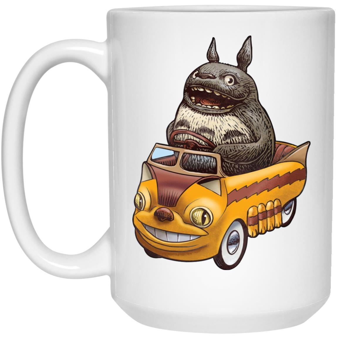 Totoro driving Catbus Mug