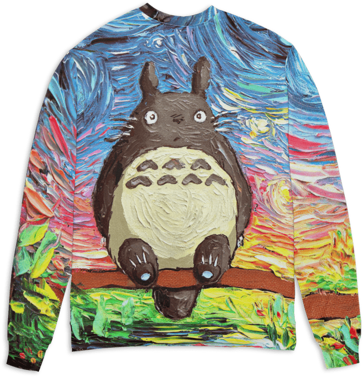 Totoro and The Starry Night 3D Sweater