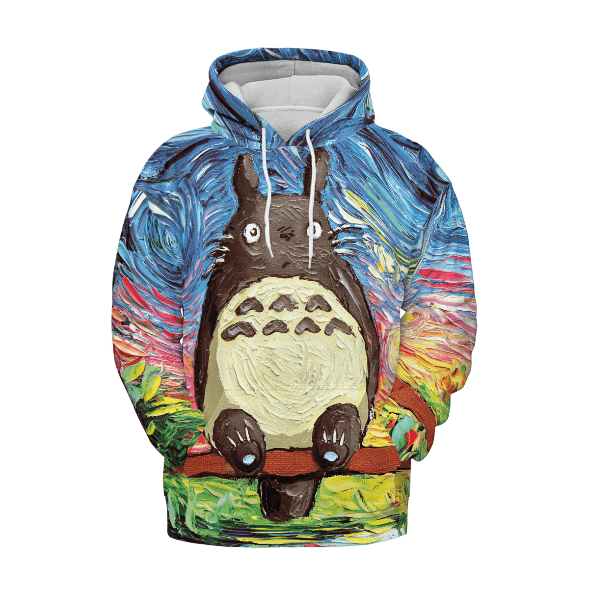 Totoro and The Starry Night 3D Hoodie