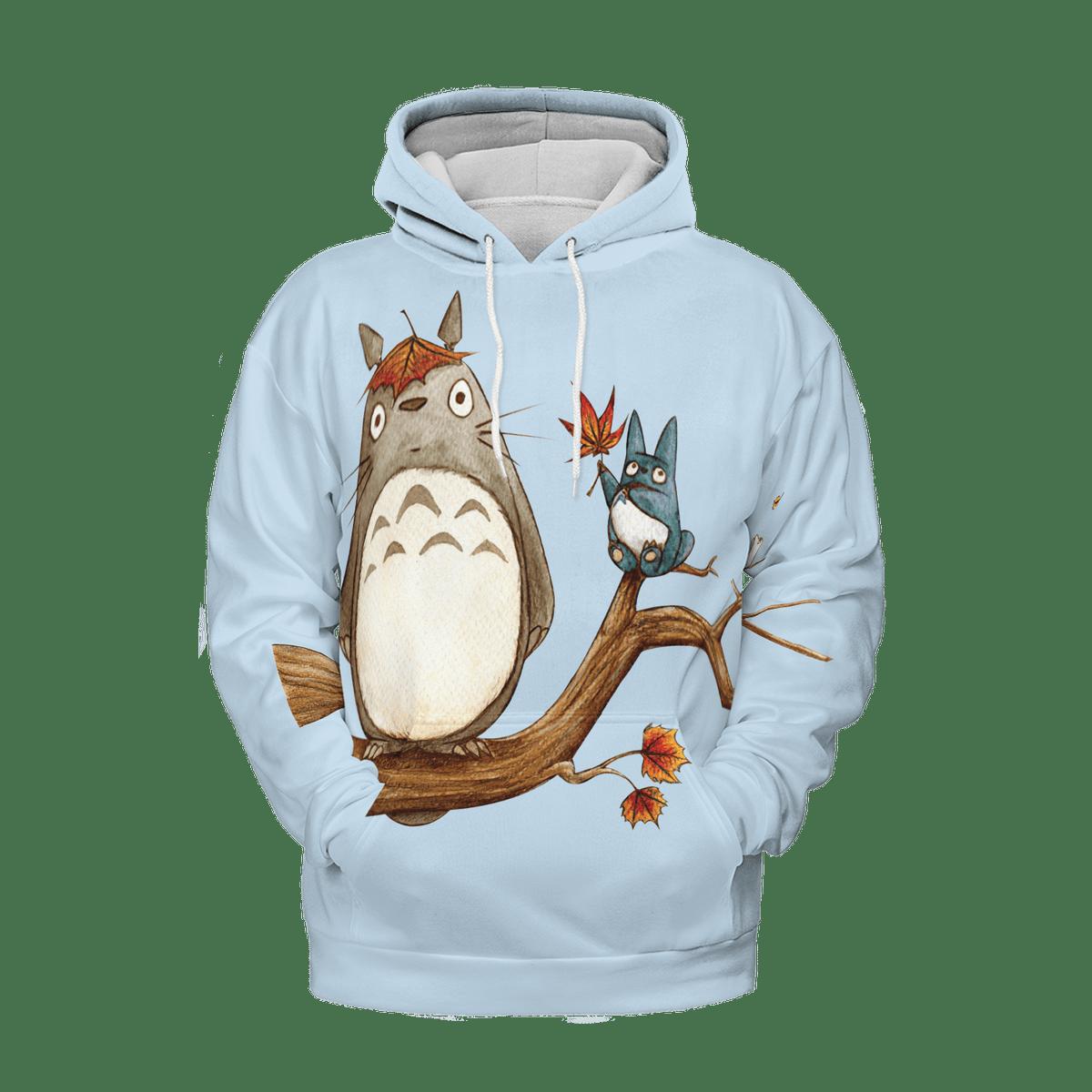 Totoro on the Autumn Tree 3D Hoodie