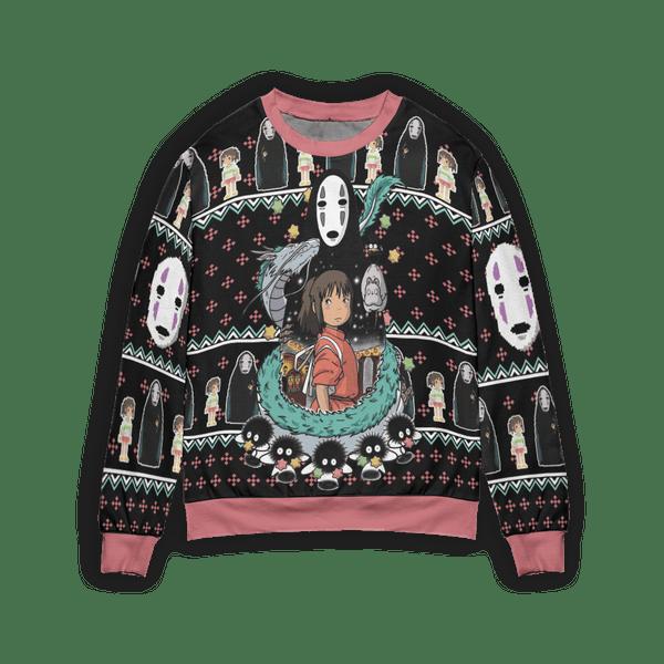 Spirited Away – Kaonashi No Face 3D Ugly Christmas Sweater