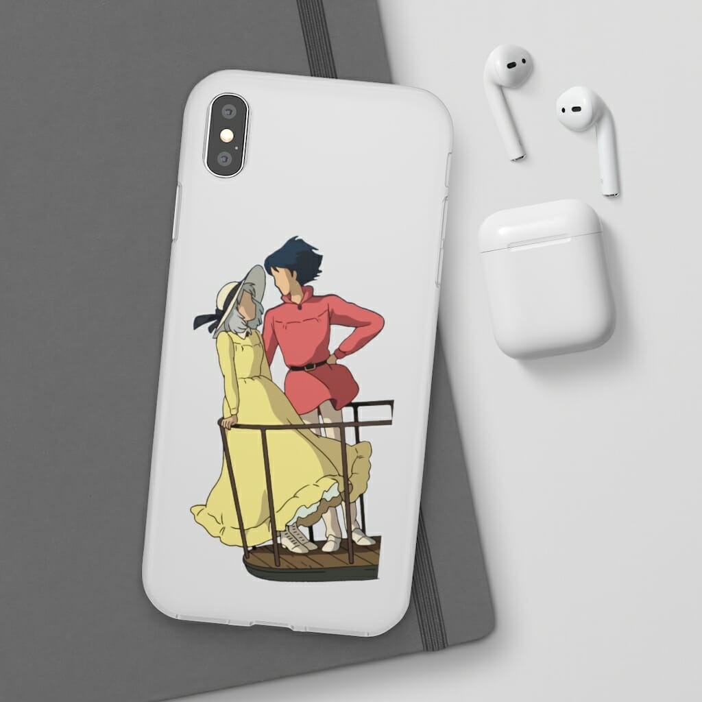 Howl's Moving Castle – Sophie and Howl Gazing at Each other iPhone Cases