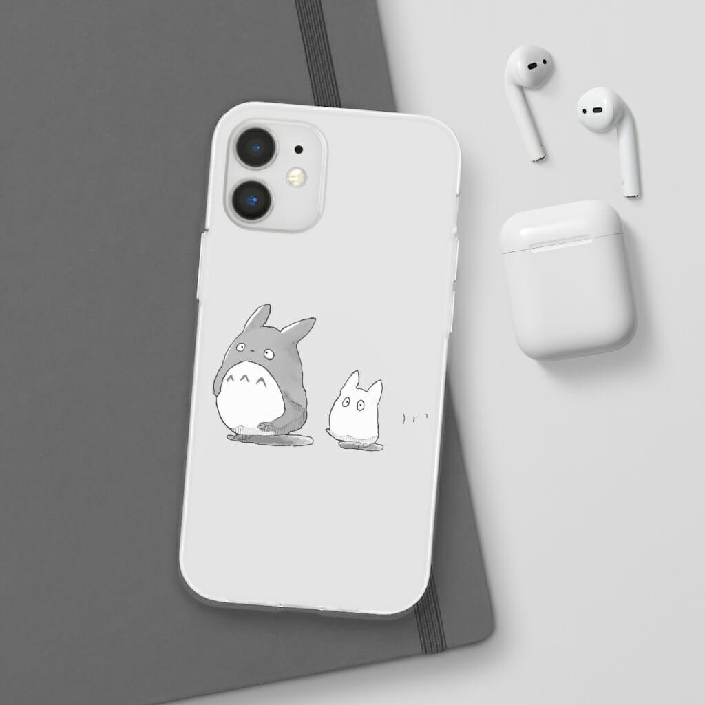 Walking Mini Totoro iPhone Cases