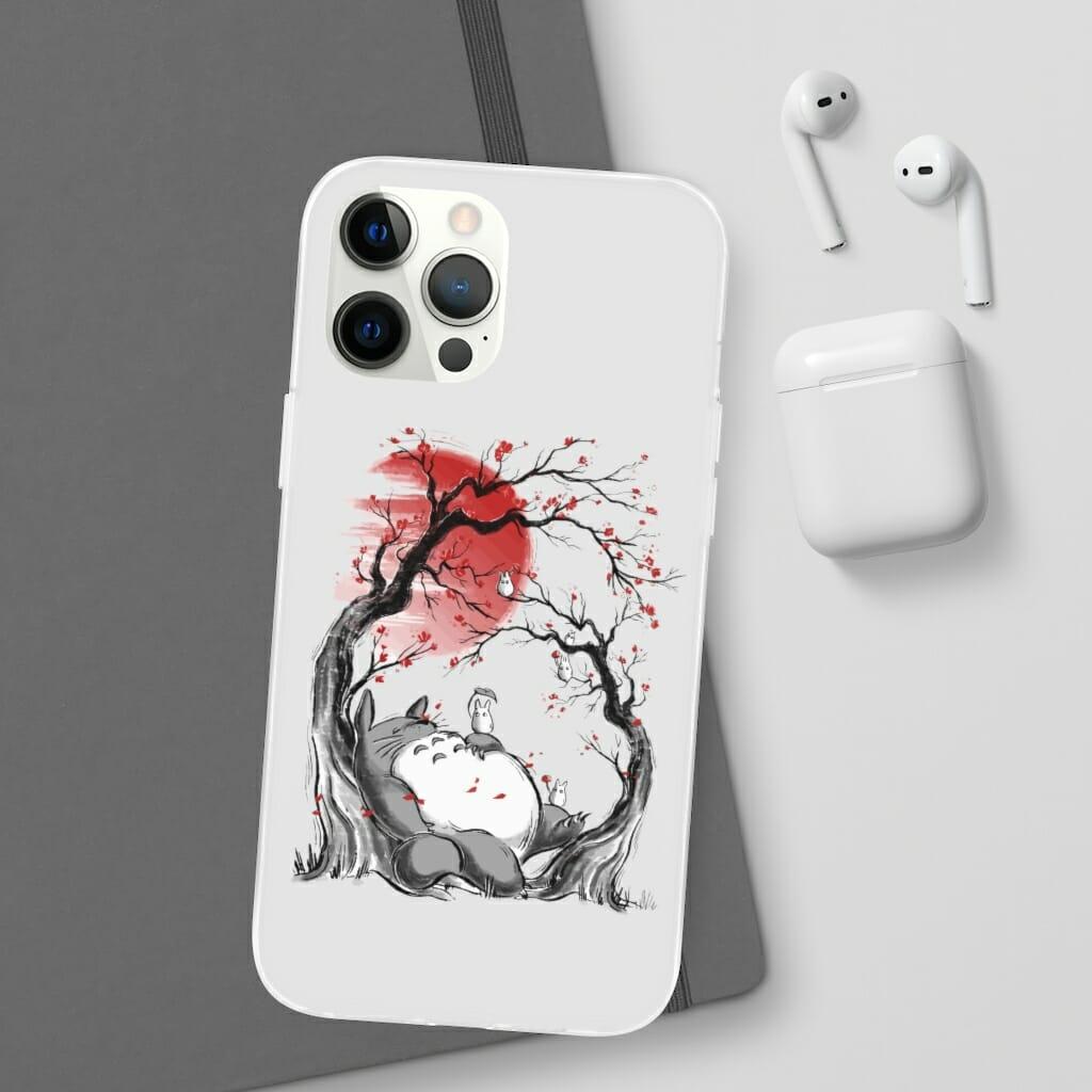 Totoro – Dreaming under the Sakura iPhone Cases