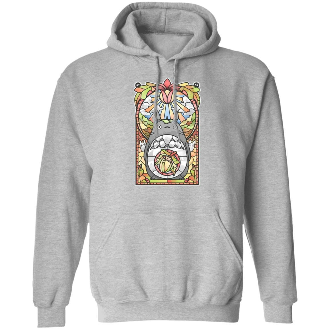 Totoro Stained Glass Art Hoodie