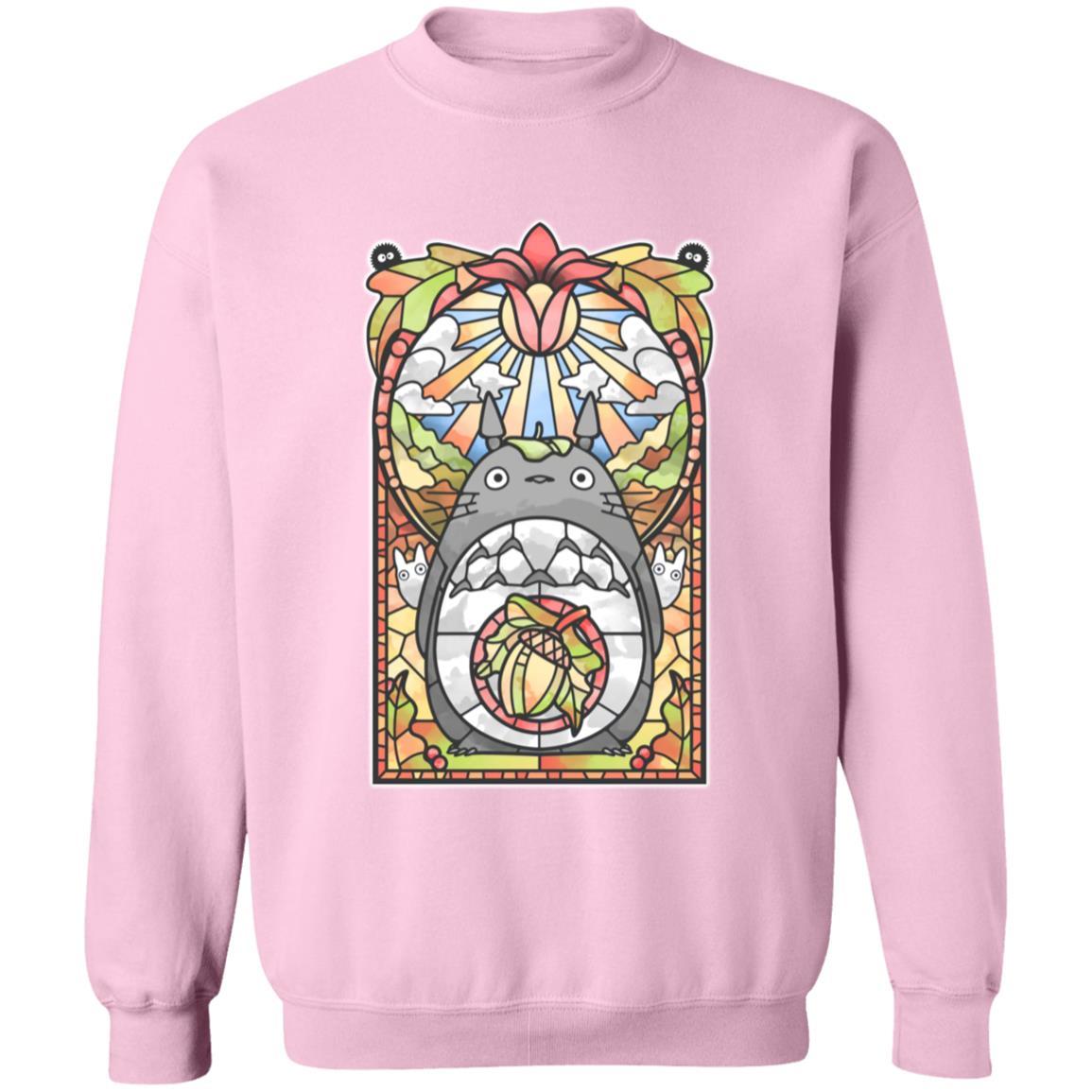Totoro Stained Glass Art Sweatshirt