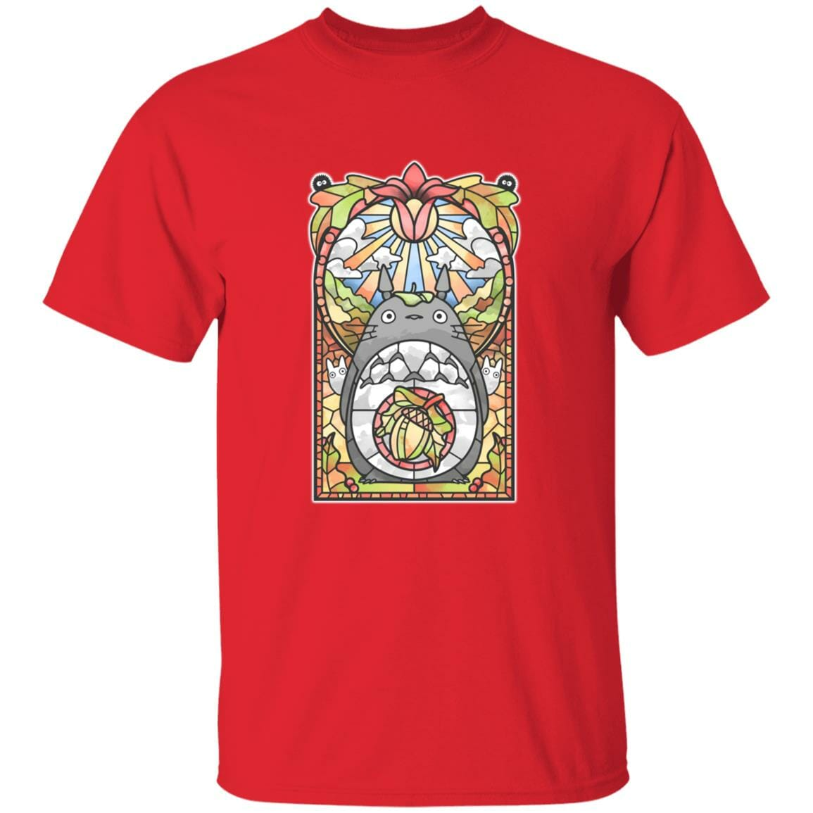 Totoro Stained Glass Art T Shirt