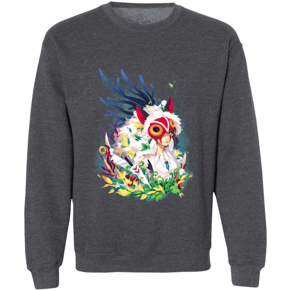 Princess Mononoke Colorful Portrait Sweatshirt