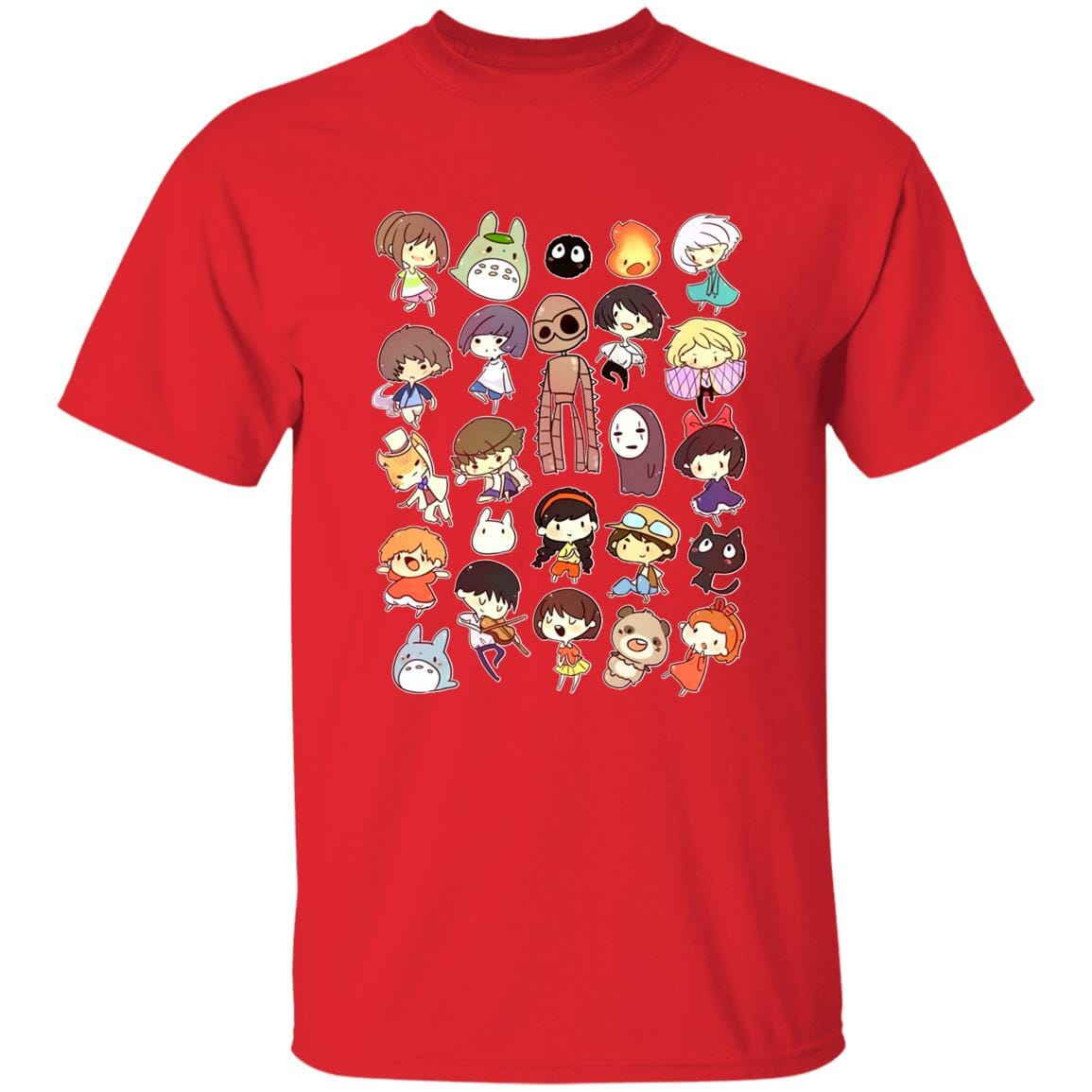 Ghibli Movie Characters Cute Chibi Collection T Shirt
