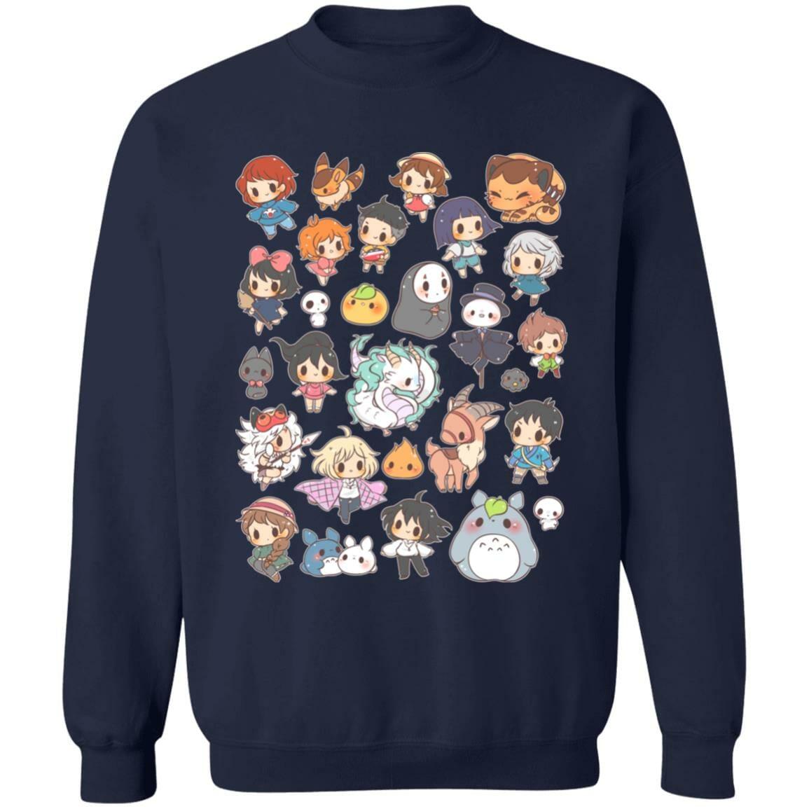 Ghibli Characters Cute Chibi Collection Sweatshirt