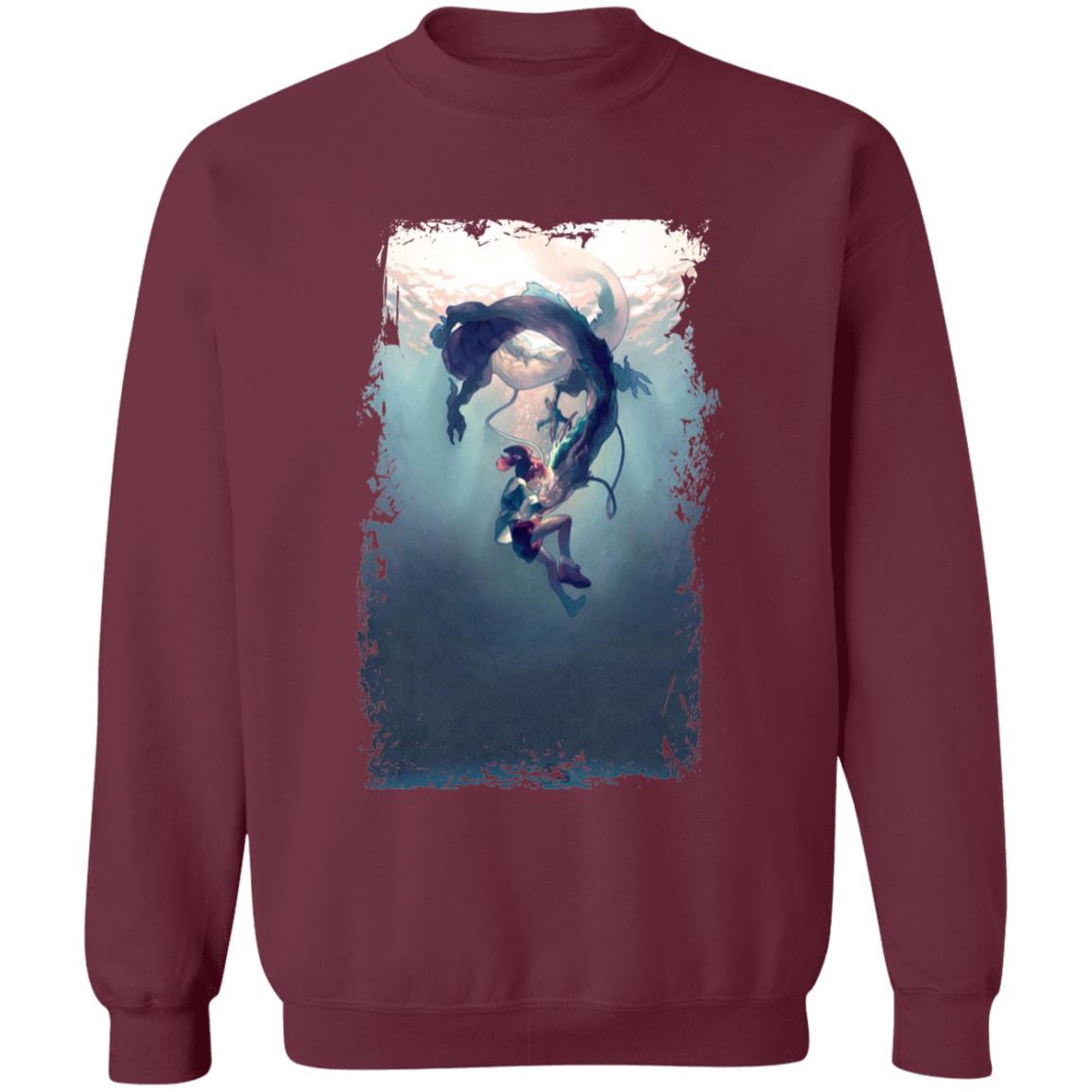 Spirited Away – Chihiro and Haku under the Water Sweatshirt