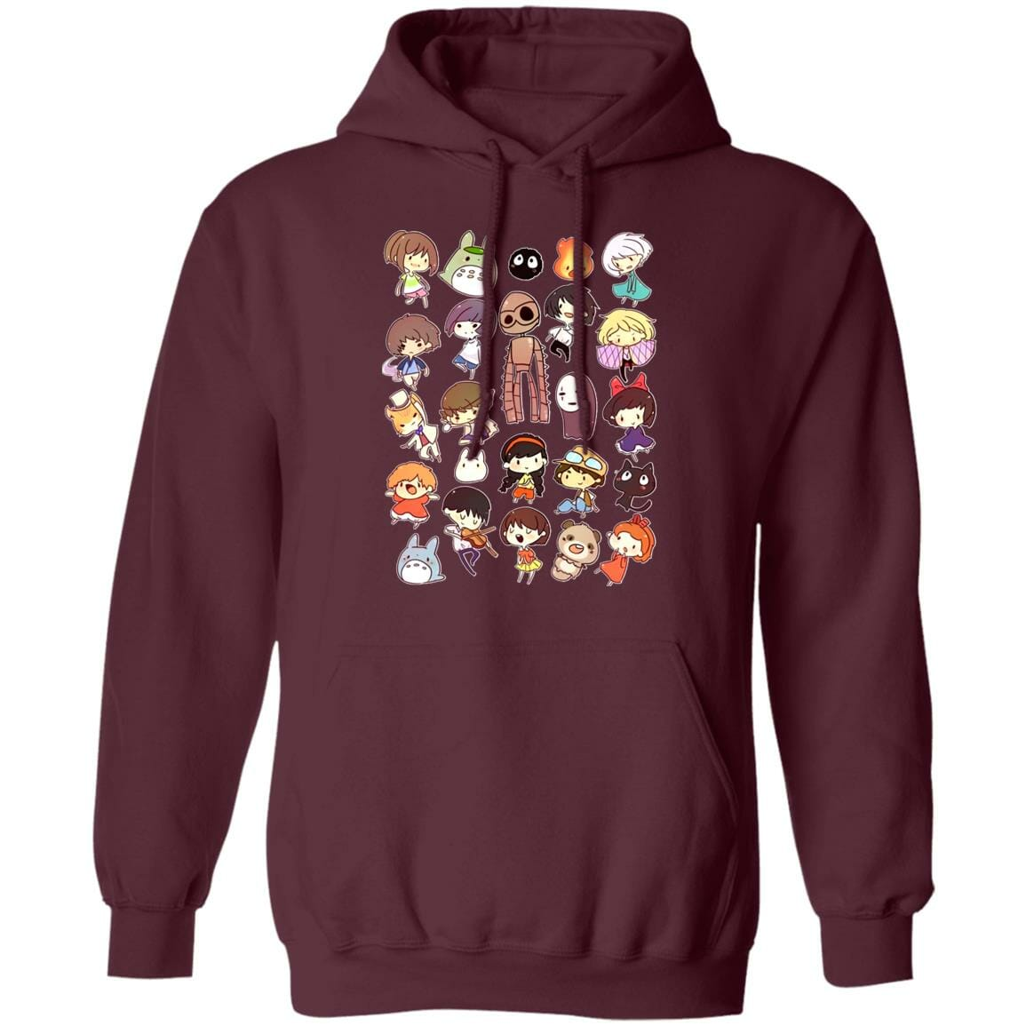 Ghibli Movie Characters Cute Chibi Collection Hoodie