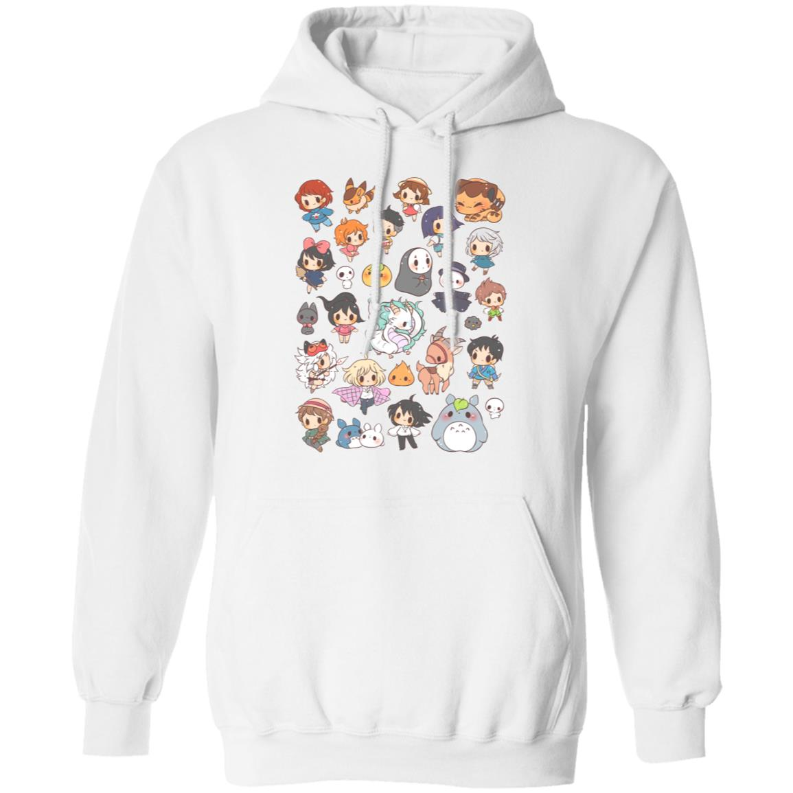 Ghibli Characters Cute Chibi Collection Hoodie