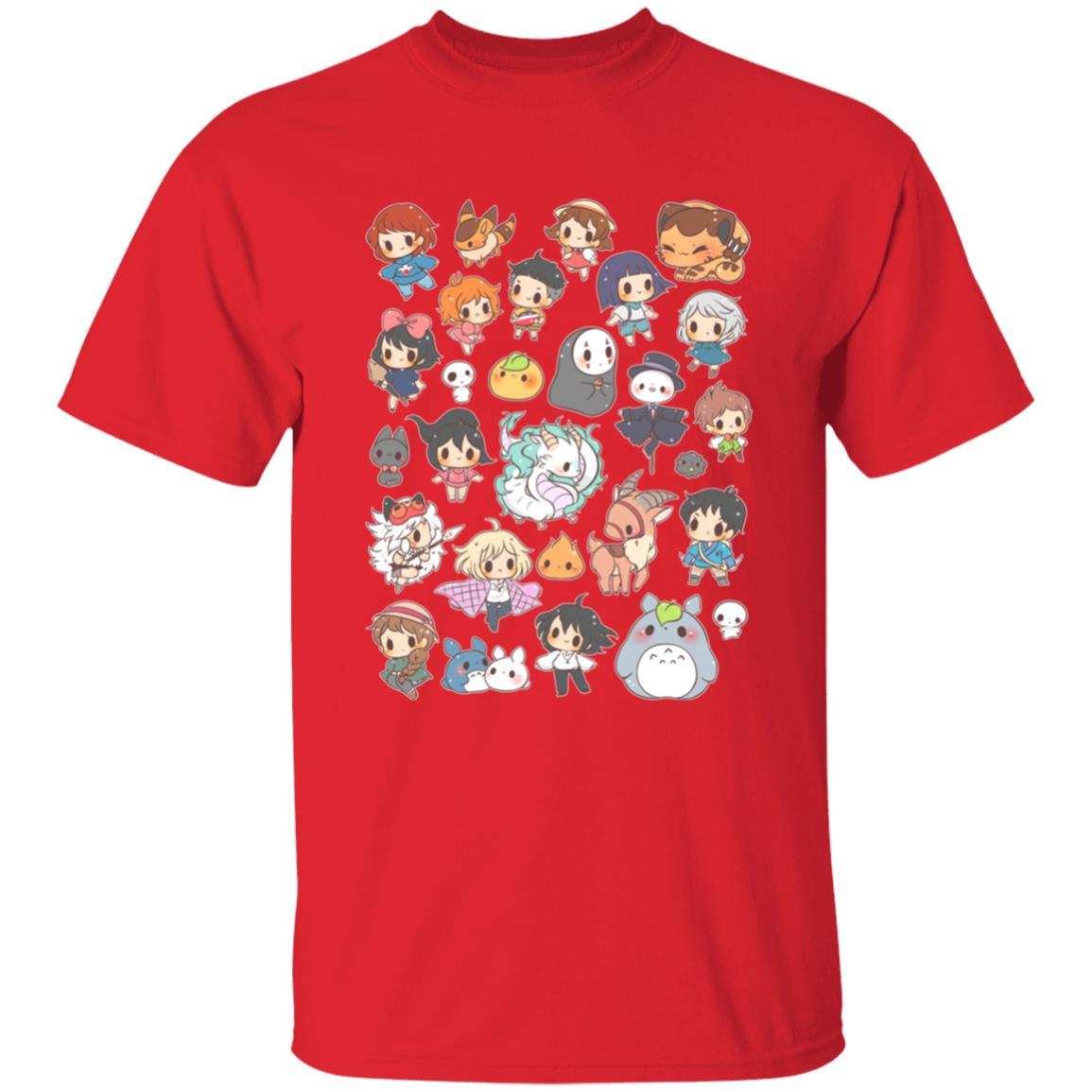 Ghibli Characters Cute Chibi Collection T Shirt