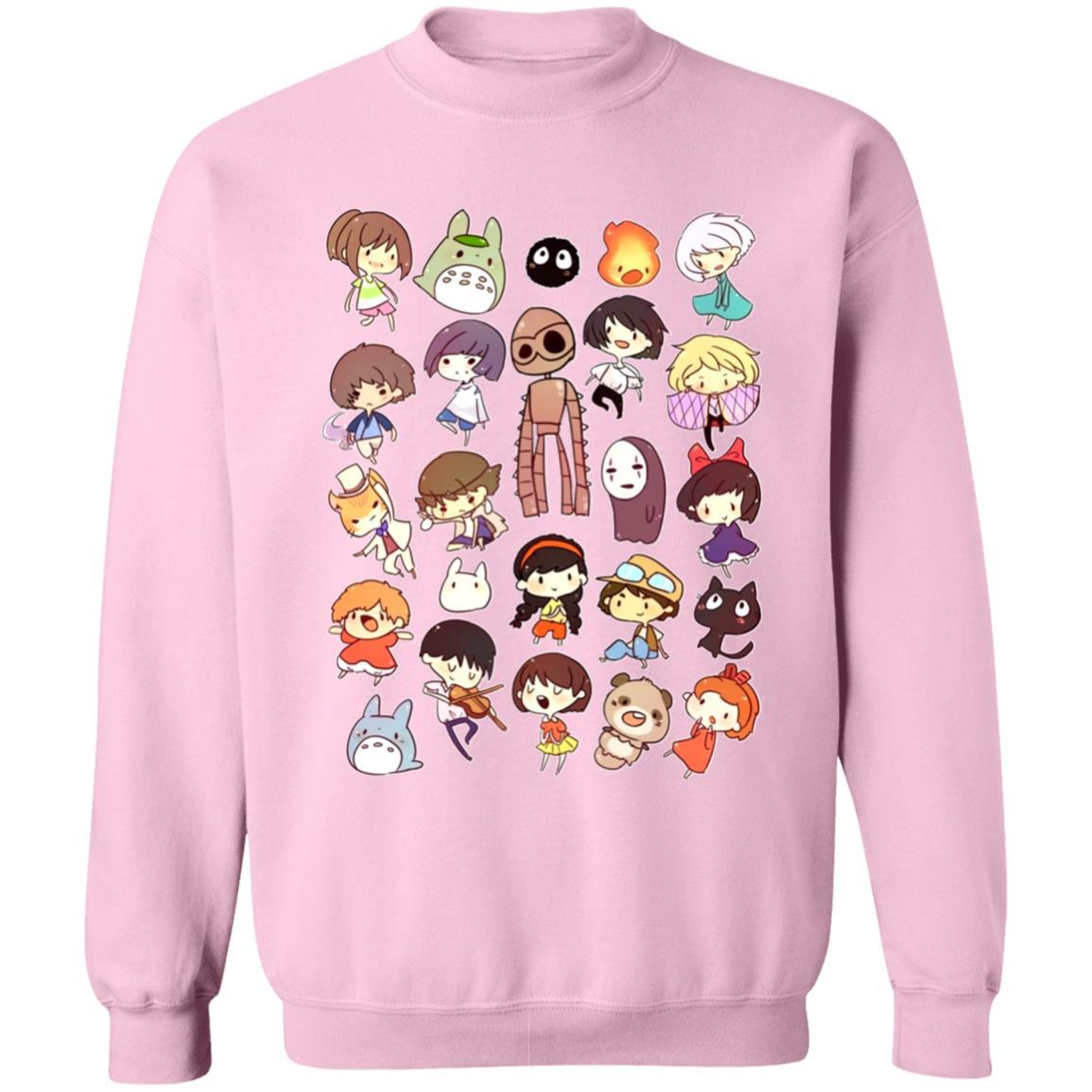 Ghibli Movie Characters Cute Chibi Collection Sweatshirt