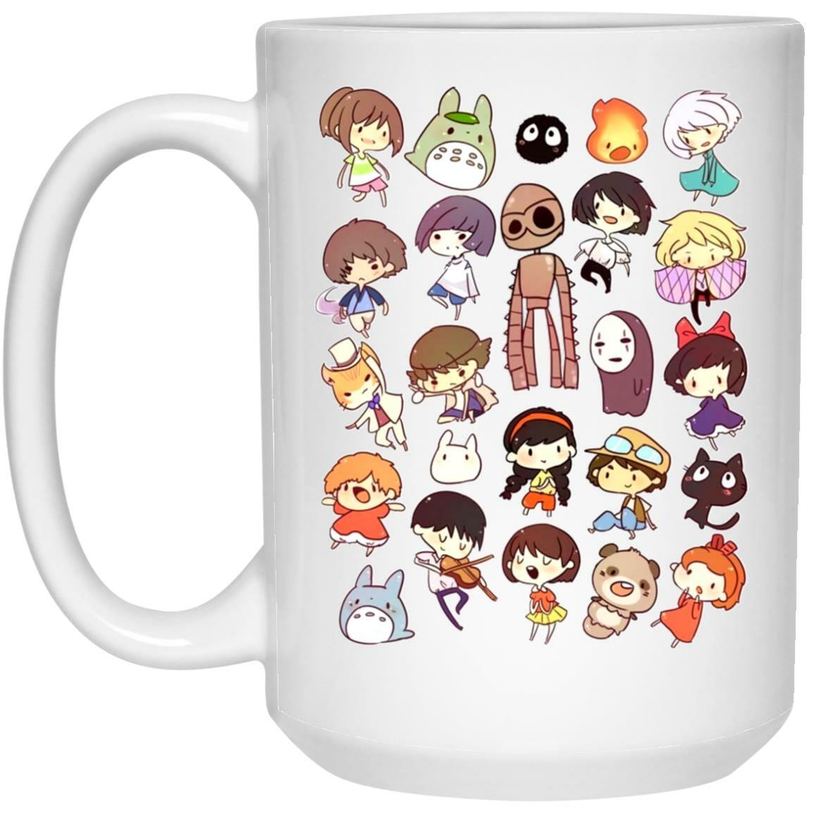 Ghibli Movie Characters Cute Chibi Collection Mug