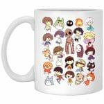 Ghibli Movie Characters Cute Chibi Collection Mug 11Oz