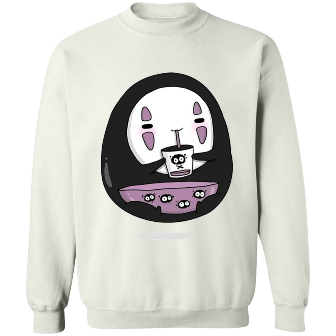 Cute No Face Kaonashi Drinking Tea Sweatshirt