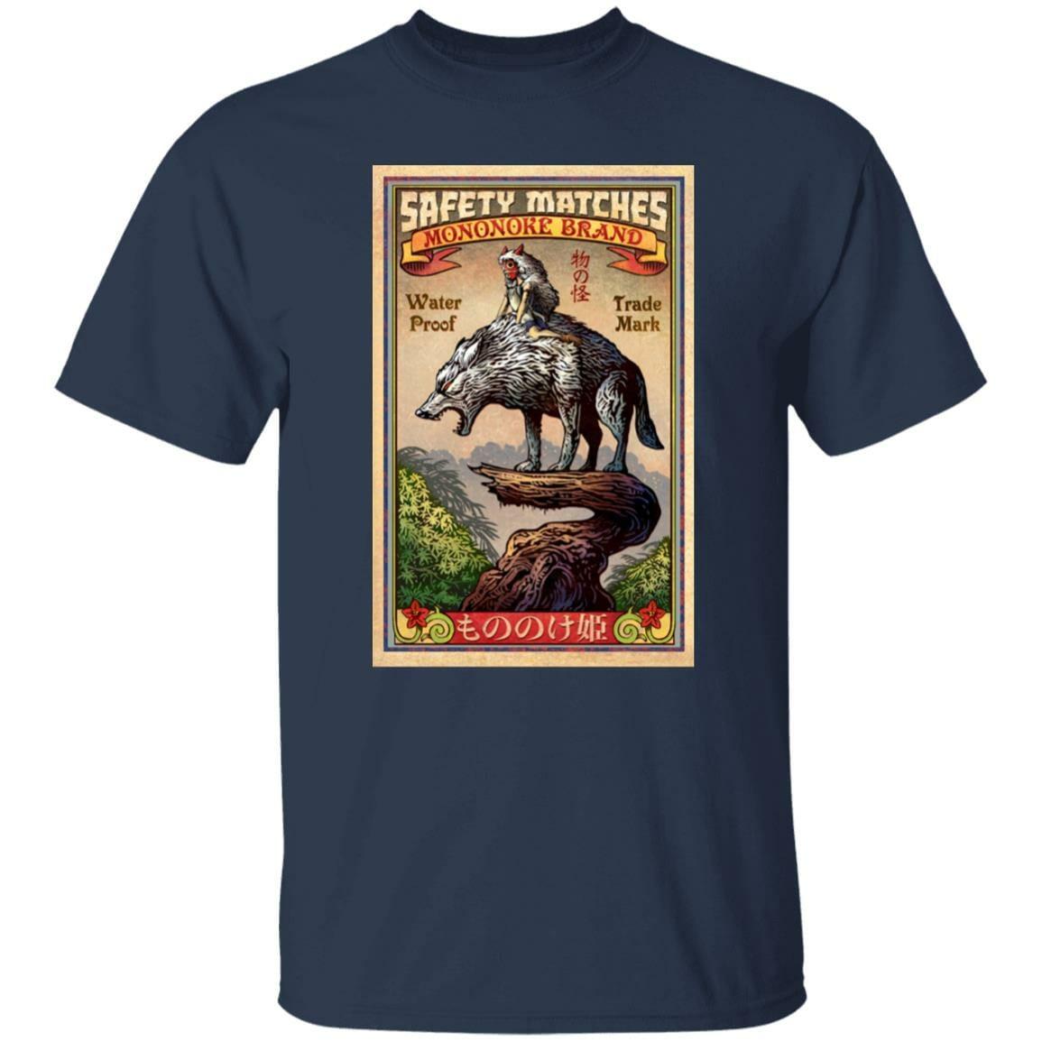 Princess Mononoke and The Wolf on Top T Shirt