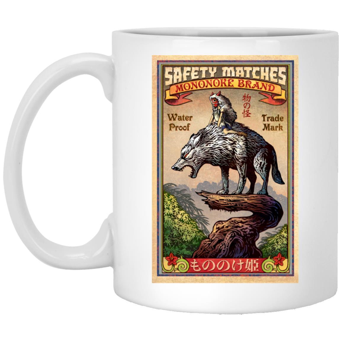Princess  Mononoke and The Wofl on Top Mug