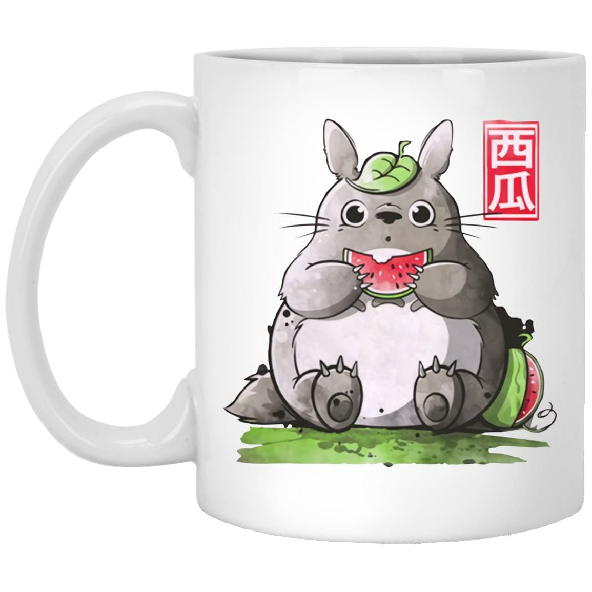 Totoro and Watermelon Mug