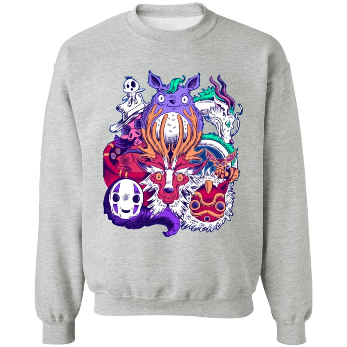Ghibli Characters creepy style Sweatshirt