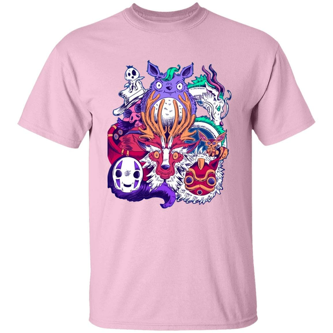 Ghibli Characters creepy style T Shirt