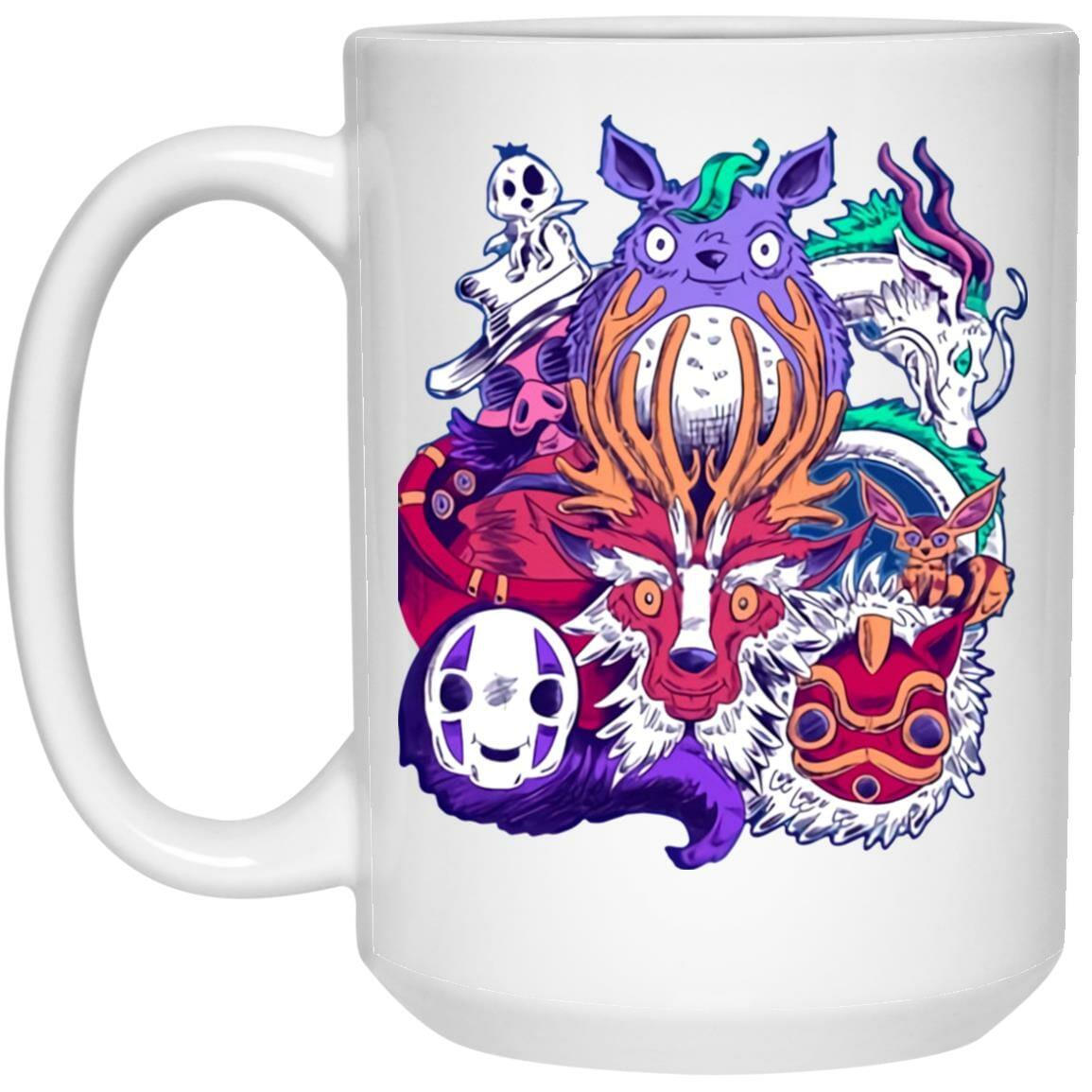 Ghibli Characters creepy style Mug
