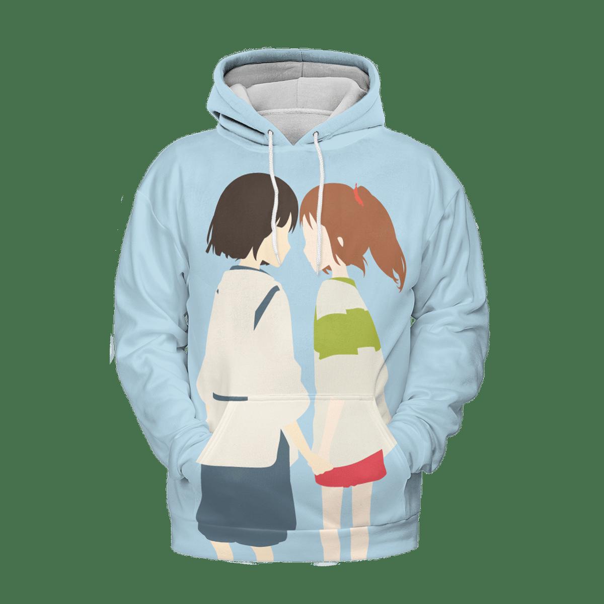 Spirited Away Chihiro and Haku 3D Hoodie