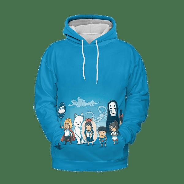 Ghibli Characters Cute Chibi 3D Hoodie