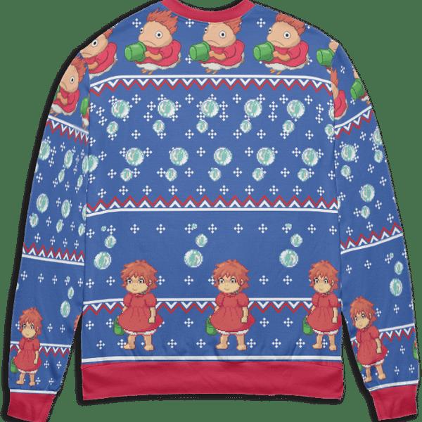 Ponyo Transforming Ugly Christmas Sweater