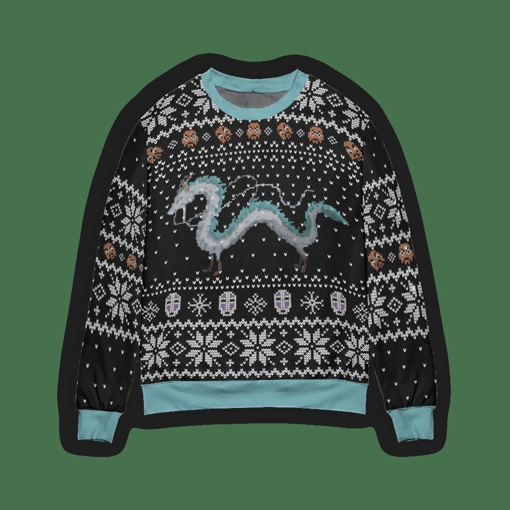 Spirited Away Haku Dragon Ugly Christmas Sweater Style 1