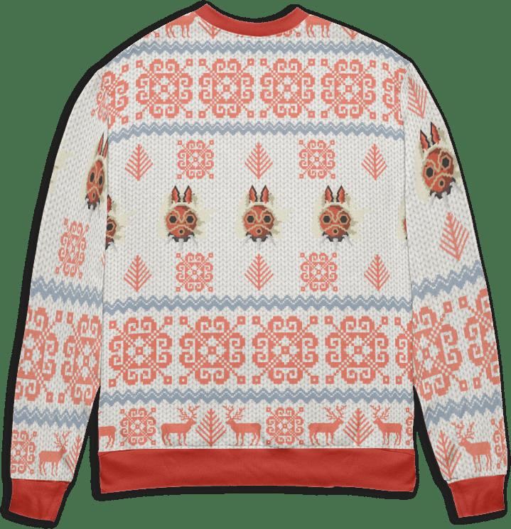 Ghibli Characters Riding Haku Dragon Ugly Christmas Sweater