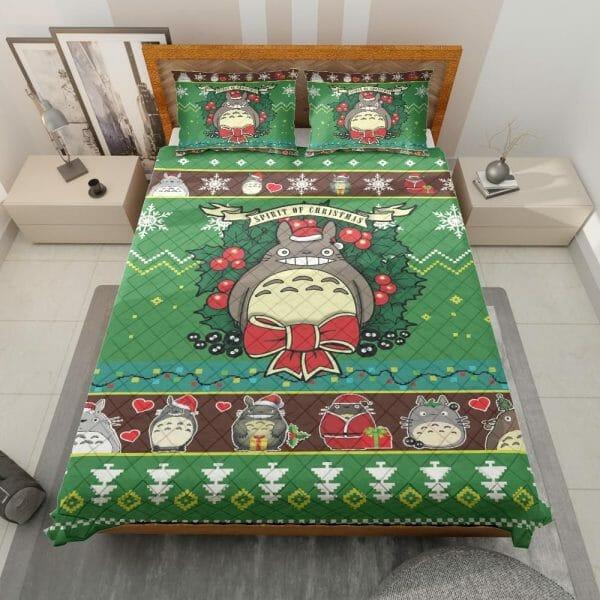 My Neighbor Totoro Green Christmas Bedding