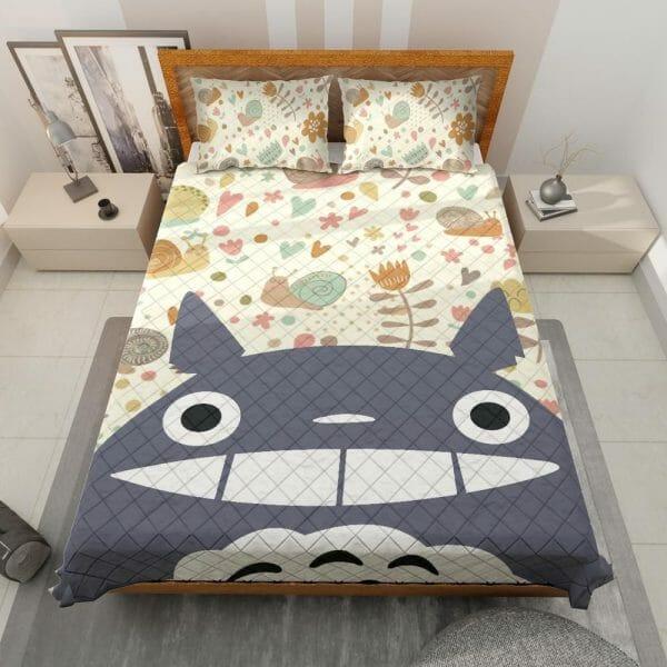 Smiling Totoro Quilt Bedding Set