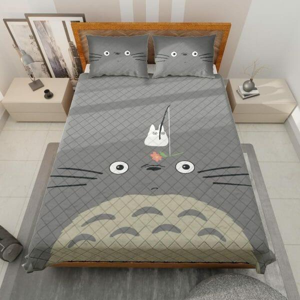 Gray Totoro Quilt Bedding Set