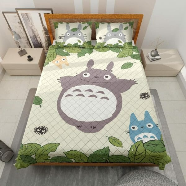 Totoro and Friends Quilt Bedding Set