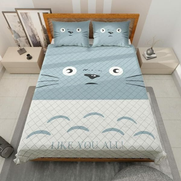 Totoro Like You All Quilt Bedding Set