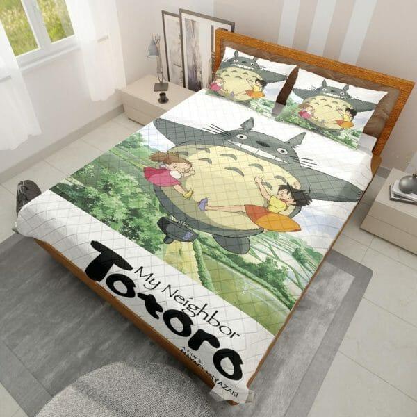 Totoro Spinning Quilt Bedding Set