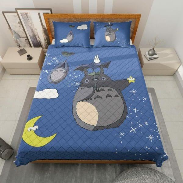 Umbrella Totoro Quilt Bedding Set