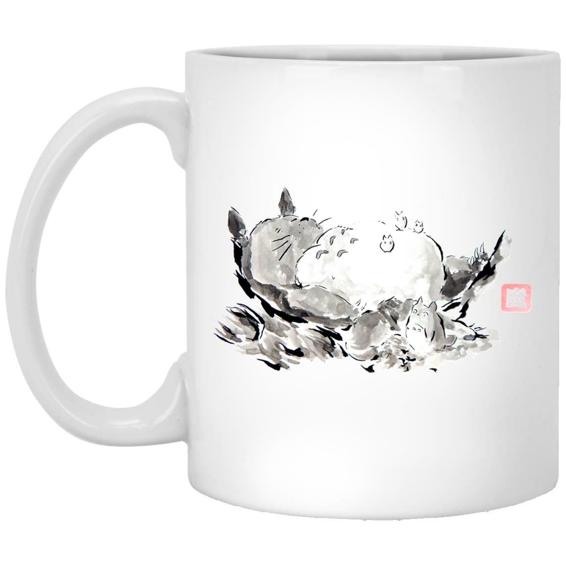 Sleeping Totoro ink Painting Mug