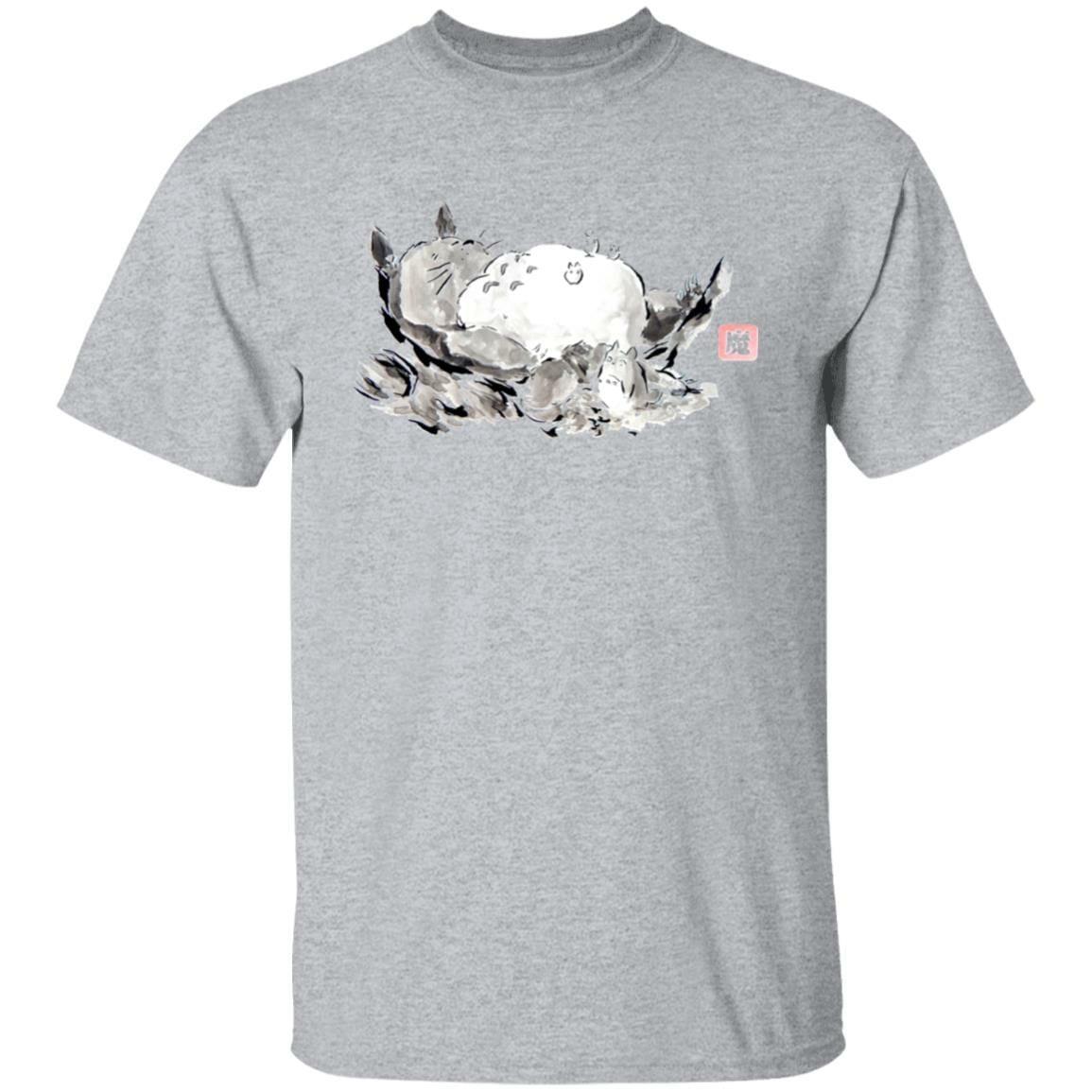 Sleeping Totoro ink Painting T Shirt