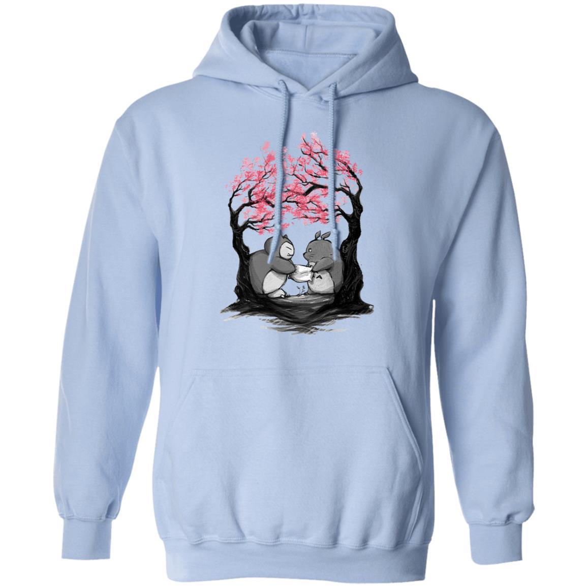 Totoro vs Snorlax Pillow fight Hoodie