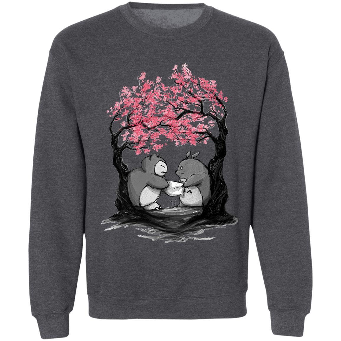 Totoro vs Snorlax Pillow fight Sweatshirt