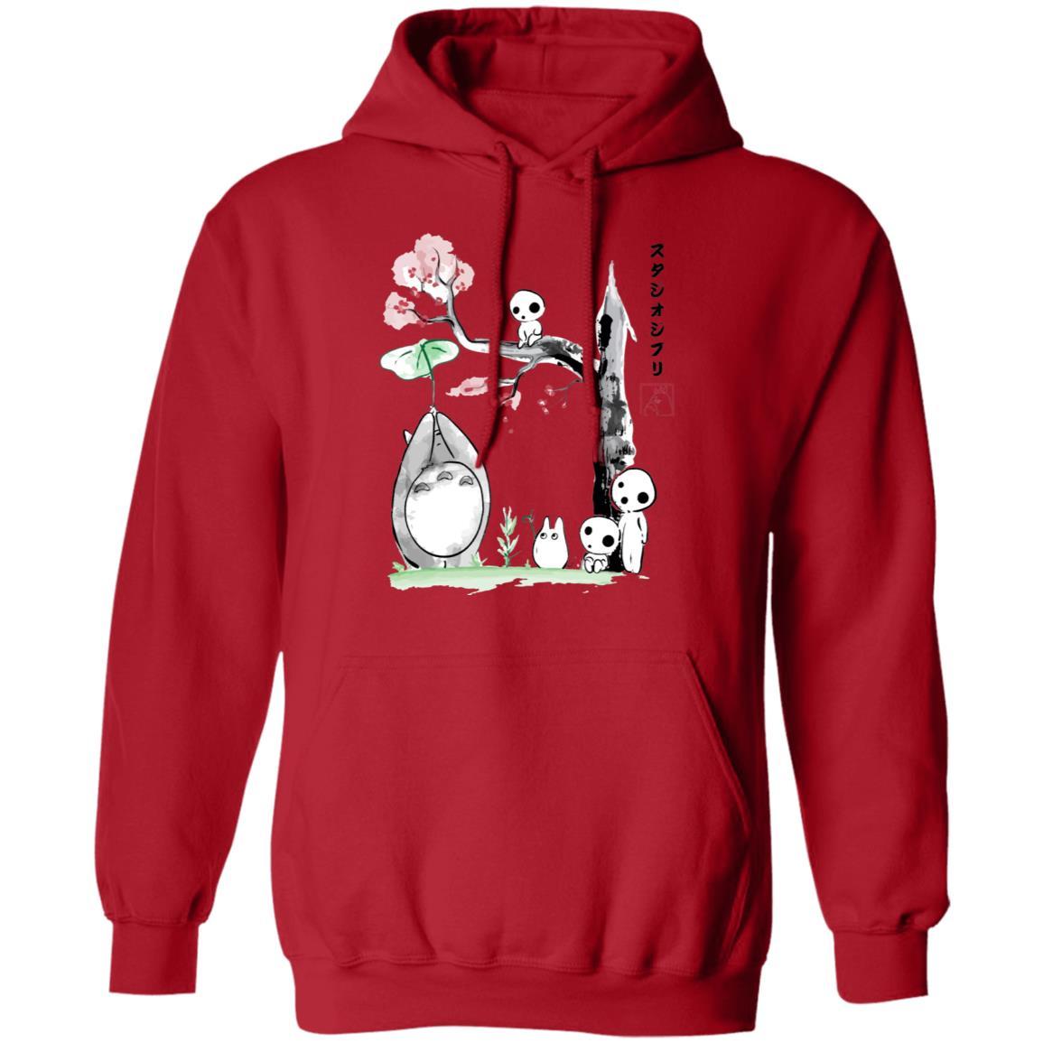 Totoro and the Tree Spirits Hoodie