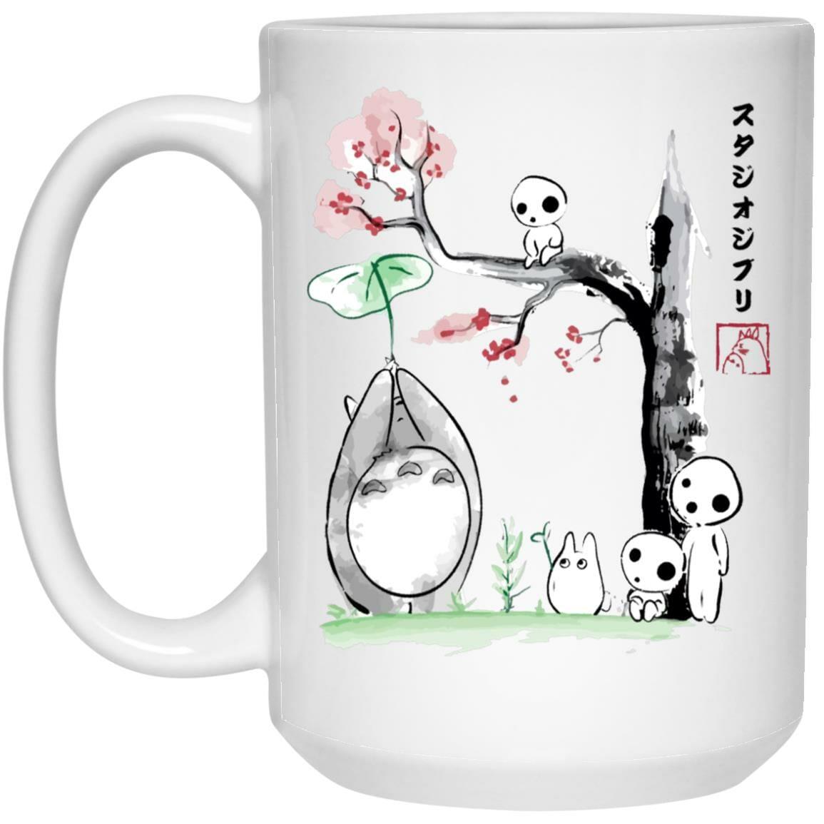 Totoro and the Tree Spirits Mug