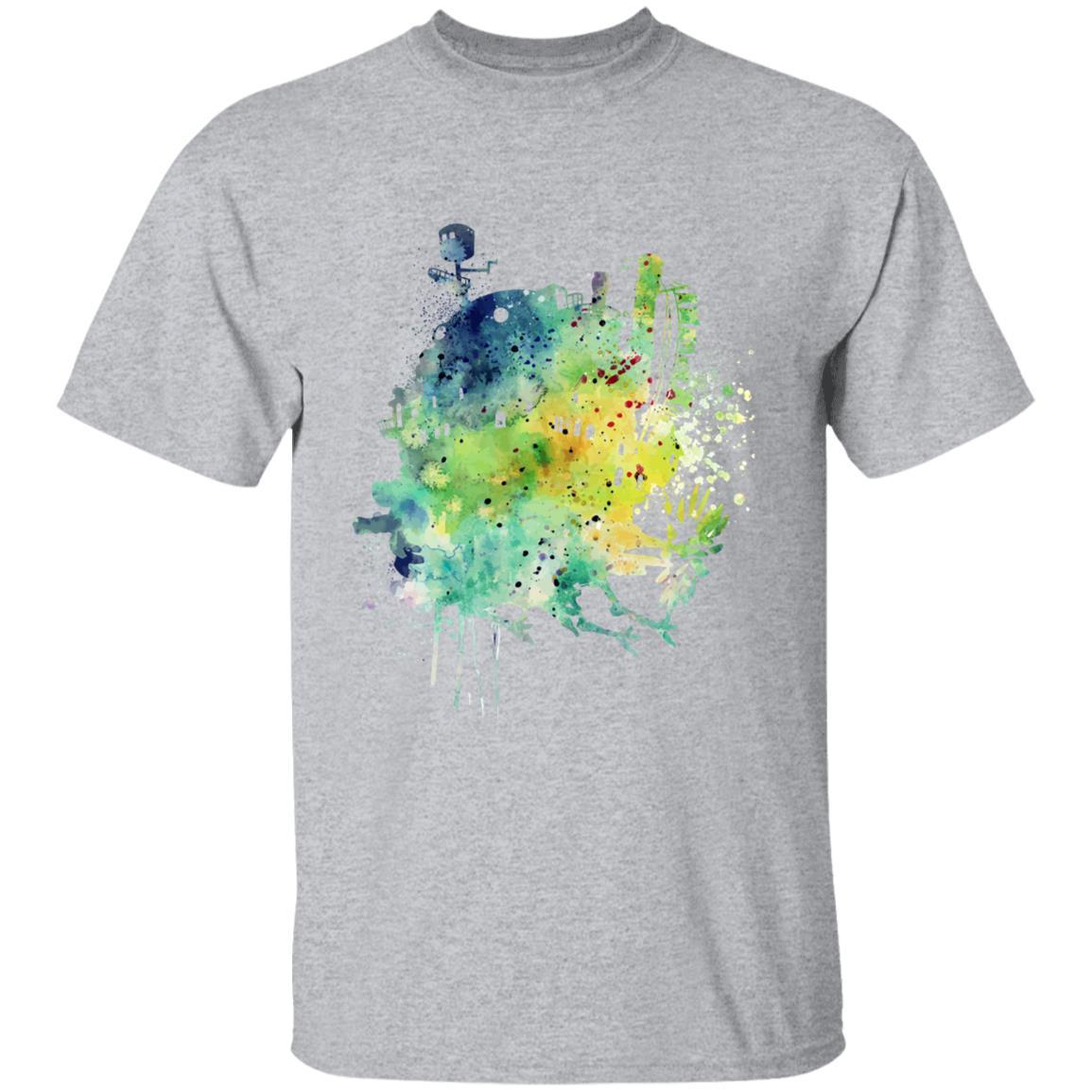 Howl's Moving Castle Colorful Castle T Shirt